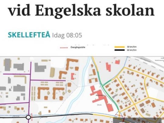Speed Limit Lowered close to Internationella Engelska Skolan